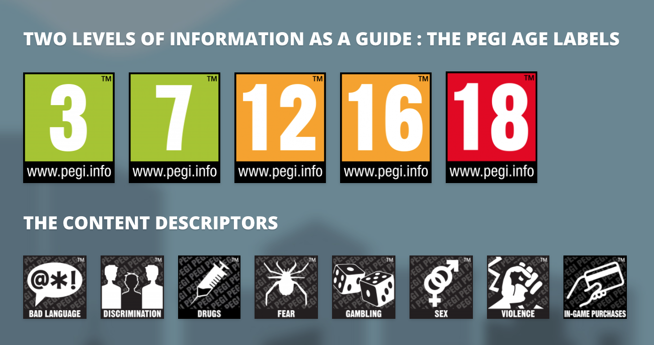 PEGI Rating and Descriptor Icons